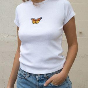 Brandy Melville Hailie Butterfly Top